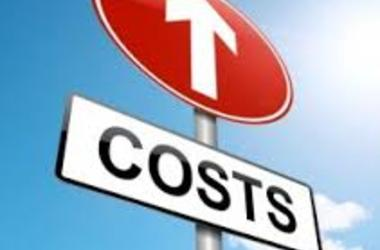 Costs depicted by traffic sign