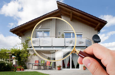 Magnifying glass view of property